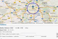 Google Maps - pull radius