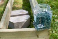 Build compost bakken gemaakt van hout zelf