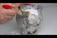 Pappmaschee: Aanwijzingen voor een spaarvarken