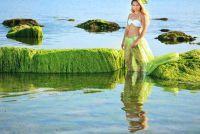 Mermaid - naai een kostuum voor het zwemmen