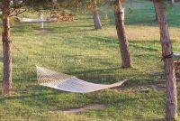 Hangmat vastgemaakt aan bomen - Instructies