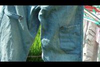 Patch gaten in jeans - dus het werkt