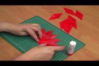 Stars vouwen van calqueerpapier - begeleiden