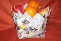 Gebruik oud papier voor knutselen - zo ontstaan mandenmakerij uit kranten