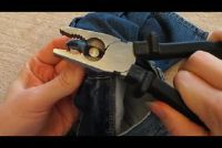 Verwijder jeans knop - zodat je de knop loslaat