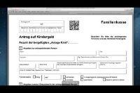 Familienkasse - invullen van formulieren voor het kind te ondersteunen recht