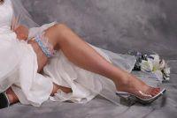 Bijdragen aan de bruiloft kousenband in het blauw?  - Houd warm rechts