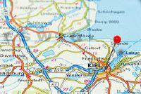 Kaart van Noord-Duitsland - dus zet ze in de schijnwerpers als Wohndeko