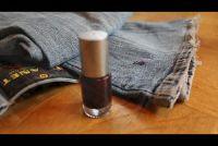 Hoe krijg ik nagellak van kleding?  - Dus het zal werken met Jeans