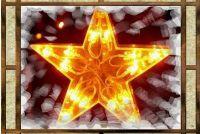 Sterren van calqueerpapier vouw - dus met succes een zespuntige ster