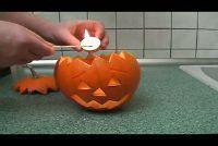 Pompoen gezicht carving - Instructies
