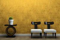 De gouden kleur mix met bijpassende kleuren voor een stijlvolle woonkamer
