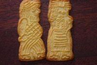 Wat kan worden gezien op speculoos koekjes?  - Achtergrond afbeeldingen