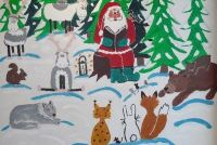 Knutselen voor Kerstmis in de kleuterschool - dus lukt het ook met jongere kinderen