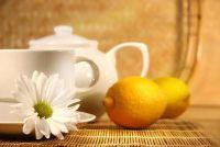 Zwarte thee met citroen - dus in staat een heerlijke voorbereiding