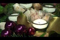 Maak Kerstmis regelingen zelf - ideeën in paars