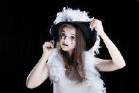 Halloween kostuum voor vrouwen - dus het is bijzonder griezelig