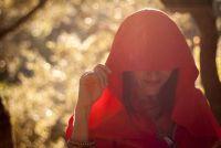 Als Red Riding Hood jurk op Halloween - dus het wordt griezelige
