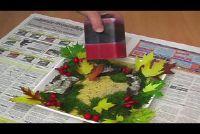 Tinker Herbstdeko van mos en loof - hoe het werkt