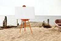 Grote doeken geschilderd - zo beheert een kunstwerk op brancard