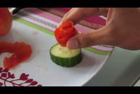 Hoe uit cijfers van fruit of groenten te snijden?