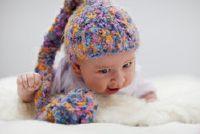 Haak kinderen hoed - zo succesvol een gestreepte muts