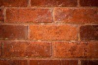 Brick wallpaper - het patroon goed is toegepast