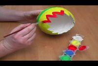Knutselen met papier mache voor Pasen