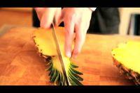 Decoratieve snijden een ananas - Instructies