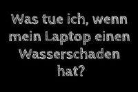 Laptop heeft waterschade - wat te doen?