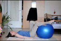 Oefeningen met oefening bal
