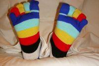 Gebreide sokken zichzelf - Aanwijzingen voor de teen sokken