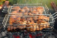 Bouw een barbecue zich van roestvrij staal