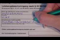 Vul Formulier 5 voor BAföG correct - dus het zal werken