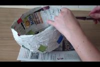 Lantaarns gemaakt van papier mache ambachten - Hier is stap-voor-stap