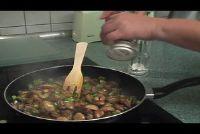Paddestoelen in knoflooksaus - een recept