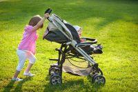 Kinderwagens - de herstelling van de remmen te slagen dus