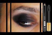 De oogschaduw zwart - zodat je het goed