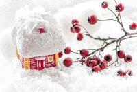 Het huis van de kerstman en naast de deur van de kerstman - oplossing