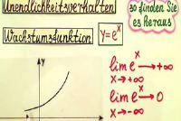 Infinity gedrag van de exponentiële functie - eenvoudig uitgelegd
