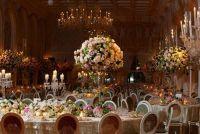 Maak bruiloft tafeldecoratie met bloemen - dus slaagt's