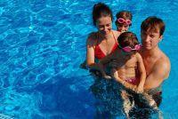Zwembad is groen - zodat het water weer helder