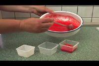 Strawberry puree freeze - die moet let op de