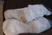 Bij het breien sokken hiel - Aanwijzingen voor hielen met dop