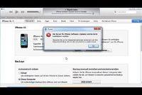 """""""De server voor iPhone-software-update kon niet worden gecontacteerd"""" - wat te doen?"""