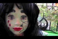 Halloween - make-up als een heks