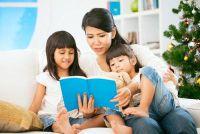 Geef grappige verhaal voor kinderen - zodat je een kerst boek sleutelen