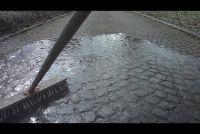 Clean straatstenen - hoe het werkt