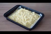 Bereid crumble topping voor gebak - hoe het werkt