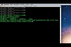 Open en gebruik Mac Terminal - dus het zal werken
